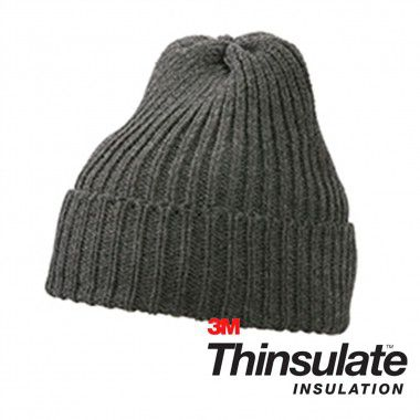 Donkergrijze Thinsulate beanie