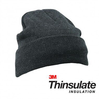 Donkergrijze Beanie thinsulate